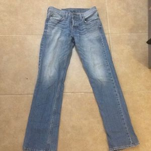 Hollister Straight-Leg Button-Fly Jeans